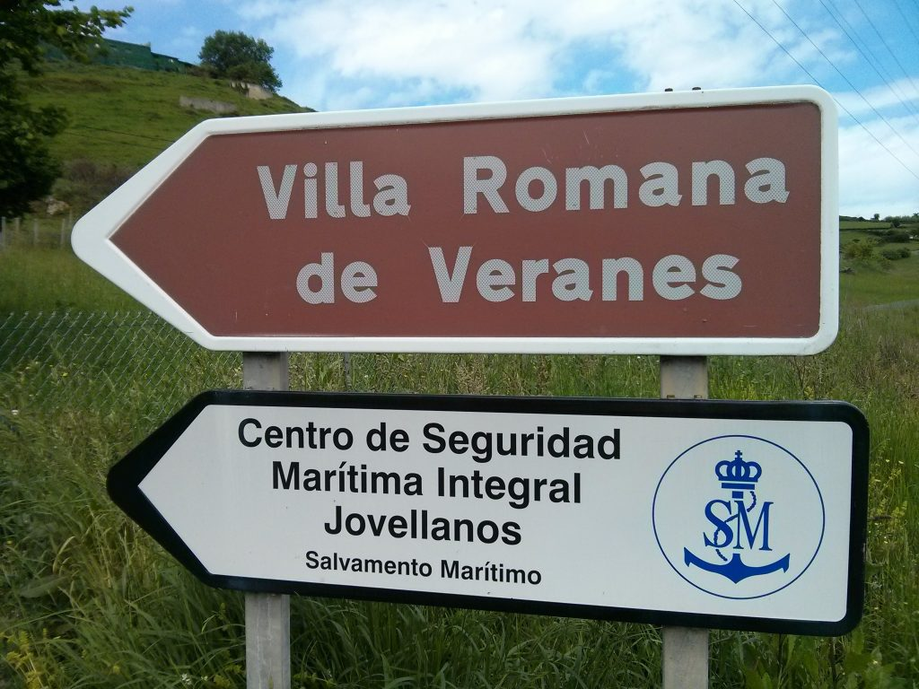 Acceso Villa romana de Veranes