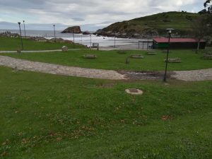 área recreativa de la playa de Santa María